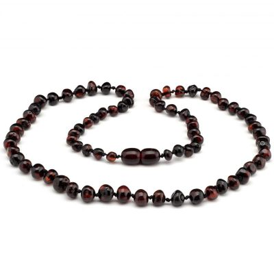 Colar de âmbar adulto barroco cherry polido - 45 cm