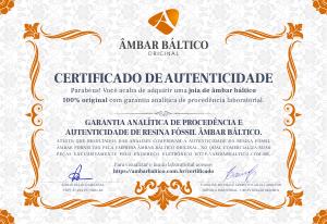 Certificado de Autenticidade com Laudo em Laboratório